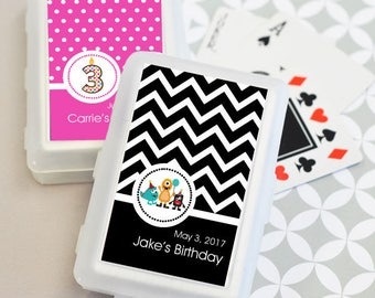 Personalized Kid's Birthday Playing Cards, (Set of 24)