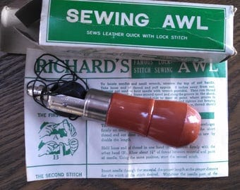 vintage the handy sewing awl leather sewing mending sews leather quick