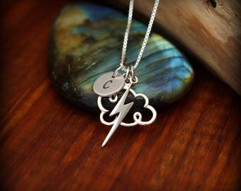Meteorologist necklace, Thunder storm necklace, Weather watcher, Storm chaser