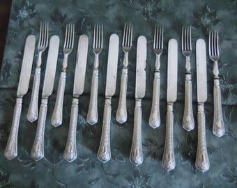 Fine Victorian Silver 14pc. Partial Dessert Service