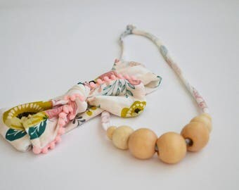Mommy and Baby Pink Necklace and Headband Set: 7-Bead