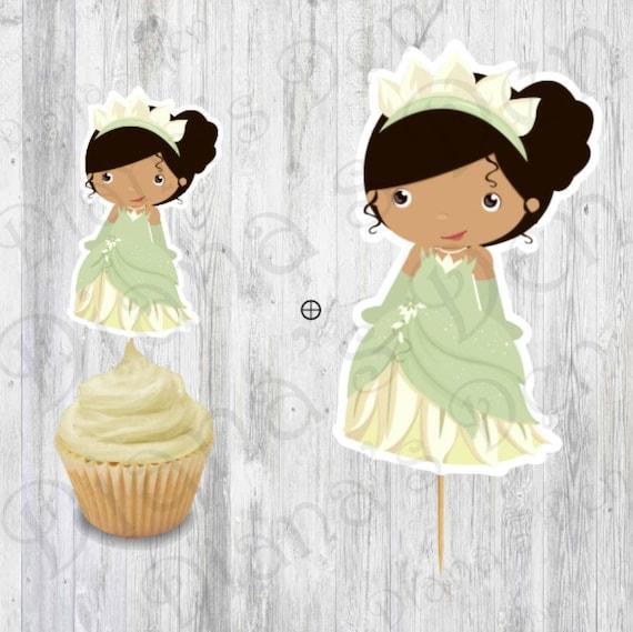 Il_570xn & Princess Party Set/Tiana Party Set/Tiana Cupcake Topper/Tiana ...