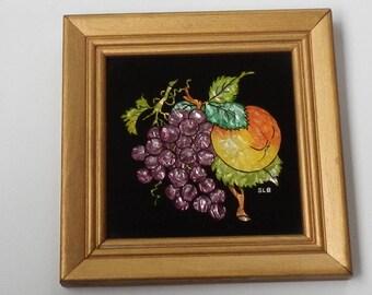 Cute Vintage Reverse Foil Fruit Picture!