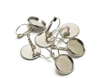 Pair of stud earrings 16 mm cabochons