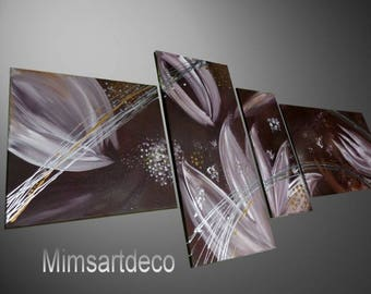 Mims flowers abstract painting