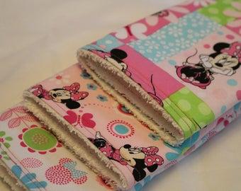 Baby Burp Cloths Set of 3, Burp Rags, Burp Cloths, Baby, Minnie Mouse, Minnie Mouse Burp Cloths, Baby Shower Gifts, Disney