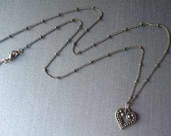 Heart Necklace Chain Necklace Teen Necklace Women's Necklace