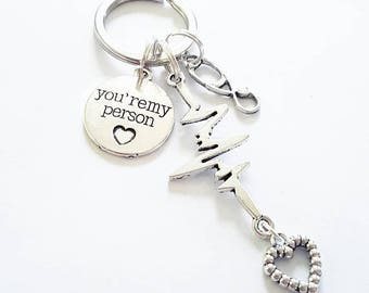 You're my person Jewelry Necklace Earrings Pin Badge Choker Keychain Bracelet Anklet Keyring Best Friends Friendship Greys Anatomy Couple dr
