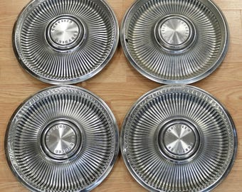 Set of 4 1967 Chrysler Newport Hubcaps, Wheel Covers