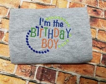 I'm The Birthday Boy, appliqué shirt, embroidery shirt