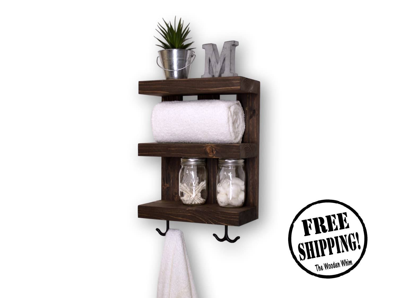 Bathroom shelves with hooks - Bathroom Shelves With Hooks 35