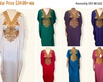 Moroccan Style Kaftan , Abaya, Embroidery Maxi Baldwin Dress