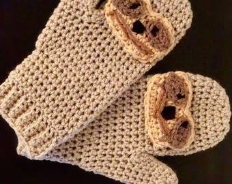 Crochet Sloth Mittens
