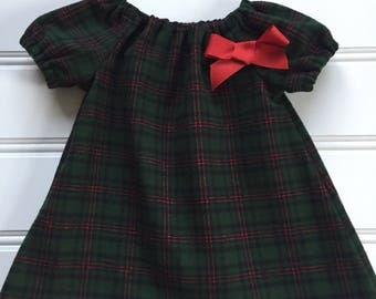 Girl Winter Dress, Plaid Flannel Dress, Girl Christmas Dress, Baby Christmas Dress, Toddler Christmas Dress, Plaid Dress