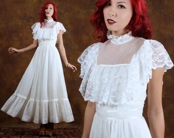 Illusion Wedding Dress Tulle Lace Wedding Dress Woodland Wedding Gown Long Sleeve Wedding Dress Boho Wedding Dress