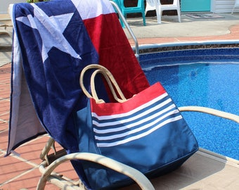 Monogrammed Beach Bag and Towel COMBO