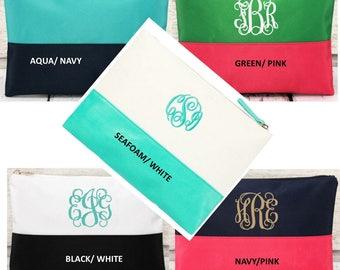 Monogrammed Pouch / BIKINI BAG/ Cosmetic Bag !      NEW