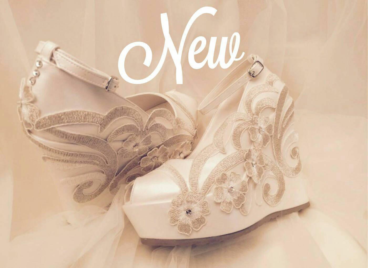Wedge Heel Shoes For Wedding: Wedding Shoes Wedges Wedding Wedges Bridal Shoes İvory