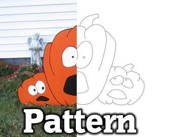DIY Halloween Pumpkin Yard Decor - Pattern