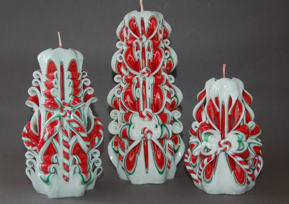 carved candles christmas hand carved candle cozy christmas. Black Bedroom Furniture Sets. Home Design Ideas