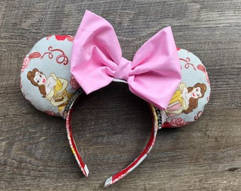 Belle Beauty and the Beast Minnie Mouse Ears