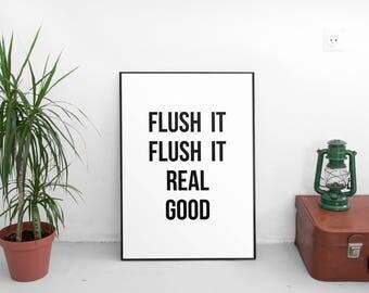 Bathroom Funny, Bathroom Wall Art Quotes, Mens Bathroom Decor, Funny  Bathroom Art,