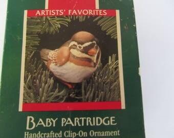 BABY   PARTRIDGE   -  1989  Hallmark   Ornament