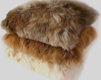 "100% Alpaca Baby Alpaca Fur Pillow Case. 20"" x 20"" Luxurious Holiday Gift, Soft & Lovely House Warming, Valentines, Christmas, Hanukkah !"