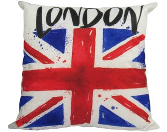 British Flag London Pillow Cover