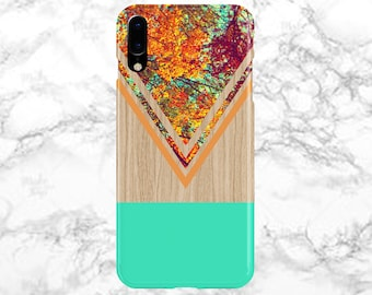 Chevron Fall Leaves Wood Case - iPhone X - iPhone 8 Plus - Protective iPhone Case - Galaxy s8 - Samsung Galaxy Case - Note 8 - CASE ESCAPE