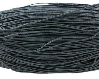 80 m cord of waxed cotton black color of 1 mm in diameter