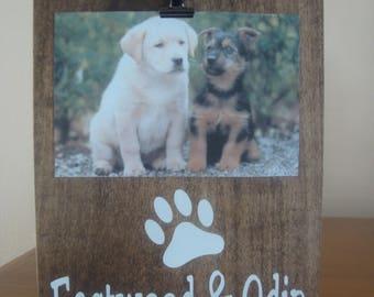 Personalized Dog Frame, Paw Print Frame, Dog Frame, Pet Frame, Gift, Pet Lover Gift, Personalized Gift, Dog Photo Frame, Dog Picture Frame