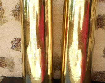 "Pair of Decorated World War Artillery Shells ""Trench Art"" * 136"