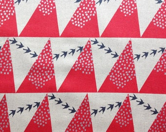 Hill in Red - Echino by Kokka Cotton Canvas Fabric Fat Quarter