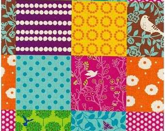 Story in Multi - Echino by Kokka Cotton Canvas Fabric Fat Quarter