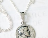 Necklace - St Francis of Assisi 18.5mm - Sterling Silver + 20 inch Sterling Silver Chain