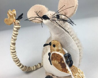 Harris Tweed,Mouse,decoration,OOAK