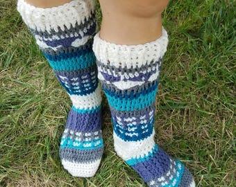 Isle Crochet Socks