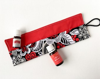 Essential Oil Carrying Case - Roll Up - EO Travel Case - Essential Oil Organizer - Storage for Oils - Pouch - Bag