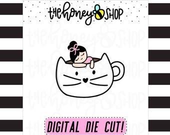 PRINTABLE DIE CUTS | All Skin Colors Included | Kitty Mug Babe Die Cuts