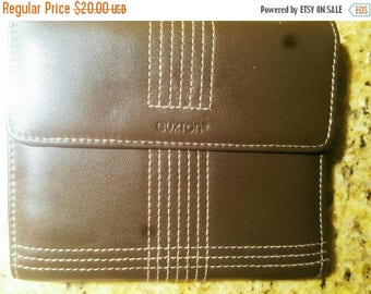 Big Sale Brown Leather Multicompartment Folded Ladies Wallet With Snap Coin Wallet Attached On Back