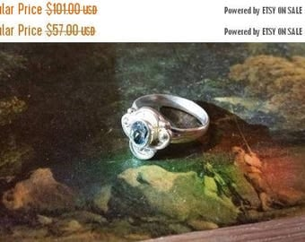 Holiday SALE 85 % OFF Blue Topaz Size 8 3/4 Ring Gemstone. 925 Sterling  Silver   Etsy Gift Sale