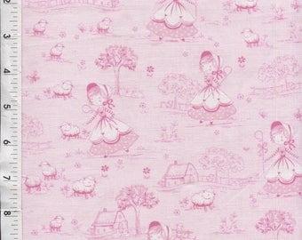 Timeless Treasures Little Bo Peep Pink Toile Fabric