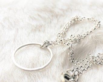 Choker necklace- Karma necklace- Geometric necklace - Triangle necklace - Open circle necklace - Infinity necklace - Silver choker