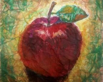 Red Apple Paitning, Watecolor Painting, Original Painting, Watercolor Art