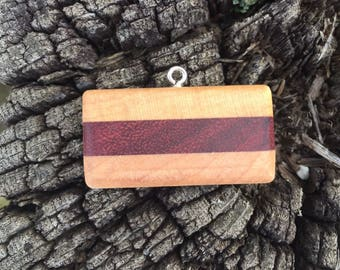 Maple and Purpleheart Pendant