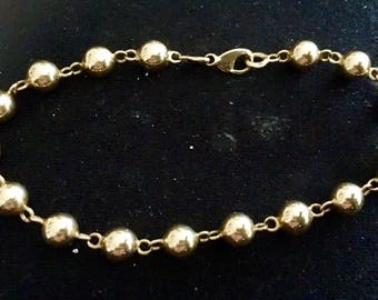 Bracelet, OM bracelet yellow gold 18 k 750/000, balls, Eagle head punch