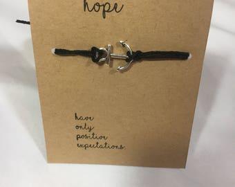 Hope Anchor Wish Bracelet