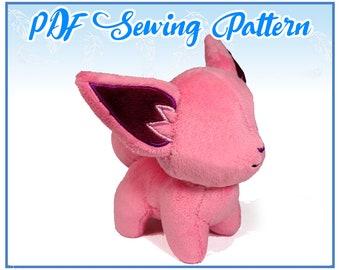 Chibi Fox PDF Sewing Pattern (intermediate)
