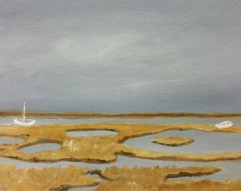 Inlet - Unframed - Oil Painting On Carton Board